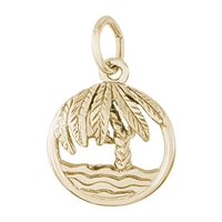 Rembrandt Palm Tree Charm, Gold Plated Silver
