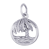 Rembrandt Palm Tree Charm, Sterling Silver