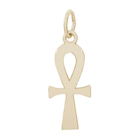 Rembrandt Ankh Symbol Charm, Gold Plated Silver