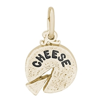 Rembrandt Cheese Charm, Gold Plated Silver