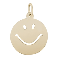 Rembrandt Happy Face Charm, Gold Plated Silver