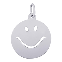 Rembrandt Happy Face Charm, Sterling Silver