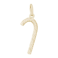 Rembrandt Candy Cane Charm, Gold Plated Silver
