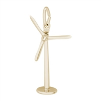 Rembrandt Power Turbine Windmill Charm, Gold Plated Silver
