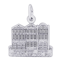 Rembrandt Rainbow Row-Charleston, North Carolina  Charm, Sterling Silver