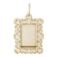 Rembrandt Picture Frame Charm, Gold Plated Silver