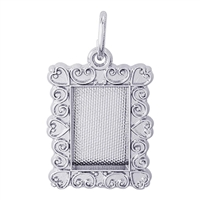 Rembrandt Picture Frame Charm, Sterling Silver