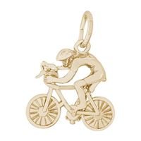 Rembrandt Cyclist Charm, Gold Plated Silver