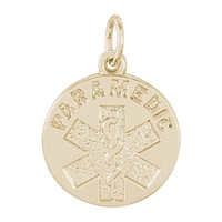 Rembrandt Paramedic Charm, Gold Plated Silver