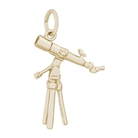 Rembrandt Telescope Charm, Gold Plated Silver