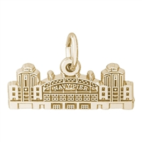 Rembrandt Chicago Navy Pier Charm, Gold Plated Silver