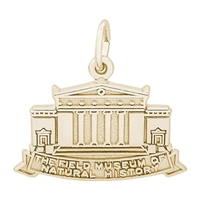 Rembrandt Chicago Field Museum Charm, Gold Plated Silver