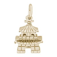 Rembrandt Oriental Temple Charm, 10K Yellow Gold