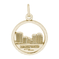 Rembrandt Richmond Skyline Charm, Gold Plated Silver