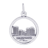 Rembrandt Richmond Skyline Charm, Sterling Silver