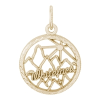 Rembrandt Whiteface Mountain Charm, Gold Plated Silver