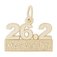 Rembrandt Marathon Charm, Gold Plated Silver