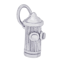Rembrandt Fire Hydrandt Charm, Sterling Silver