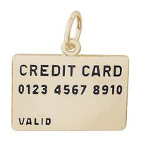Rembrandt Credit Card Charm, Gold Plated Silver