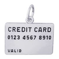 Rembrandt Credit Card Charm, Sterling Silver
