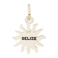 Rembrandt Small Belize Sun Charm, Gold Plated Silver