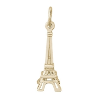 Rembrandt Eifffel Tower Charm, Gold Plated Silver