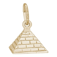 Rembrandt Pyramid Charm, 14K Yellow Gold
