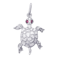 Rembrandt Turtle Charm, Sterling Silver