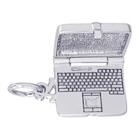 Rembrandt Laptop Computer Charm, Sterling Silver
