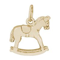 Rembrandt Rocking Horse Charm, Gold Plated Silver
