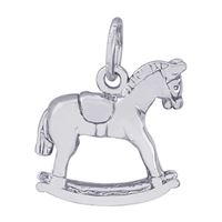Rembrandt Rocking Horse Charm, Sterling Silver