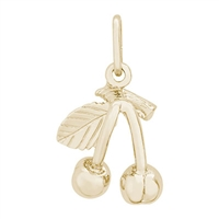Rembrandt Cherries Charm, Gold Plated Silver