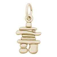 Rembrandt Inukshuk Charm, Gold Plated Silver