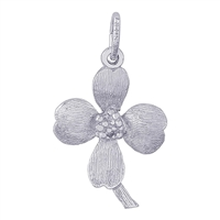 Rembrandt Dogwood Flower Charm, 14K White Gold