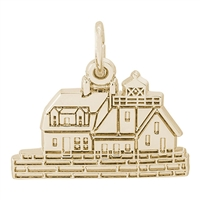 Rembrandt Rockland, Maine Lighthouse Charm, Gold Plated Silver