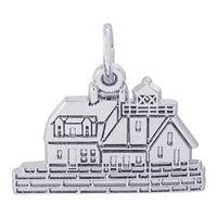 Rembrandt Rockland, Maine Lighthouse Charm, Sterling Silver