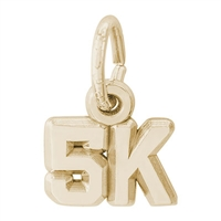 Rembrandt 5K race Charm, Gold Plated Silver