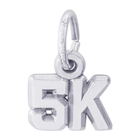Rembrandt 5K race Charm, Sterling Silver
