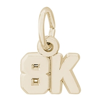 Rembrandt 8K race Charm, Gold Plated Silver