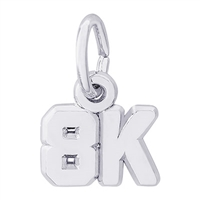 Rembrandt 8K race Charm, Sterling Silver