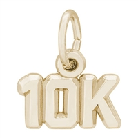 Rembrandt 10K race Charm, Gold Plated Silver