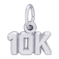 Rembrandt 10K race Charm, Sterling Silver