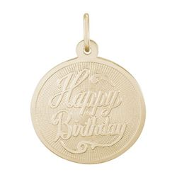Rembrandt Birthday Charm, Gold Plated Silver