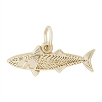 Rembrandt Mackeral Fish Charm, Gold Plated Silver
