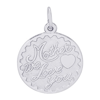 Rembrandt Mother, We Love You Charm, Sterling Silver