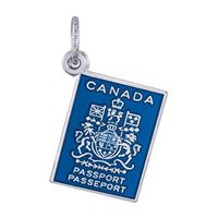 Rembrandt Canadian Passport Charm, Sterling Silver