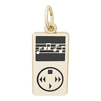 Rembrandt IPOD - MP3 Player Charm, Gold Plated Silver