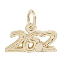 Rembrandt Marathon 26.2 Charm, Gold Plated Silver