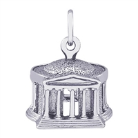Rembrandt Jefferson Memorial Charm, Sterling Silver