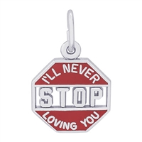Rembrandt I'll Never Stop Loving You Charm, Sterling Silver